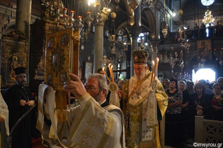 Η εορτή της Παναγίας Μυρτιδιωτίσσης στην ιερά νήσο Τήνο (ΦΩΤΟ)