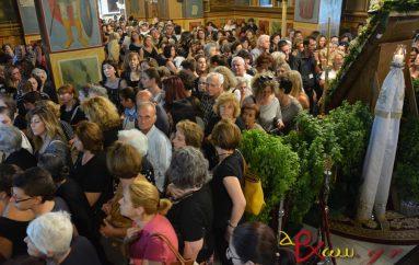 Πλήθος πιστών στο Ιερό Ευχέλαιο ενώπιον της Παναγίας του Κύκκου (ΦΩΤΟ)