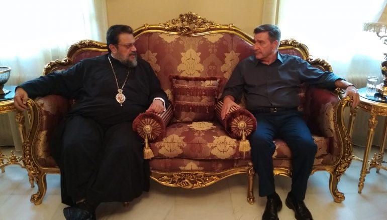 Στον Μητροπολίτη Μεσσηνίας ο Δήμαρχος Αθηναίων Γ. Καμίνης (ΦΩΤΟ)