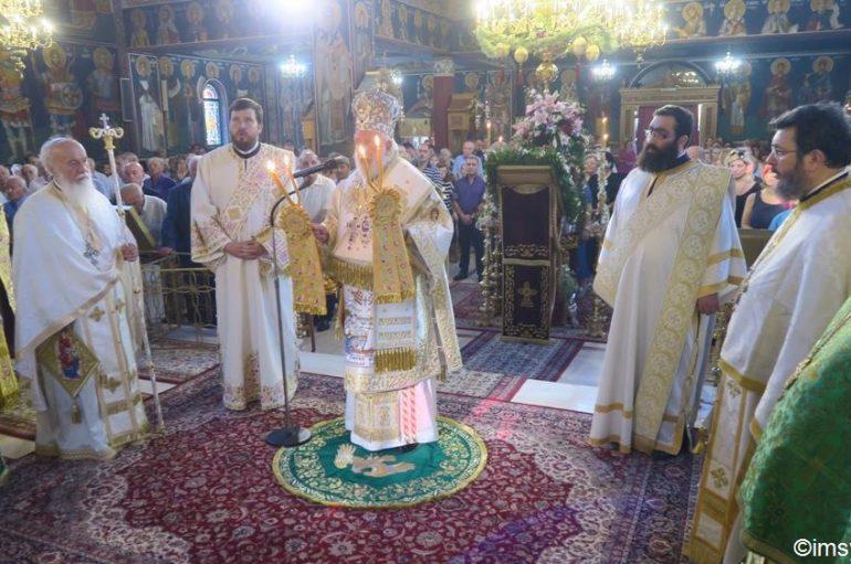Αρχιερατική Θεία Λειτουργία στον Ιερό Ναό Αγίας Σοφίας Ψυχικού (ΦΩΤΟ)