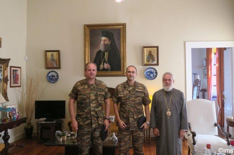 Στον Μητροπολίτη Σύρου ο νέος Διοικητής του Τάγματος Εθνοφυλακής (ΦΩΤΟ)