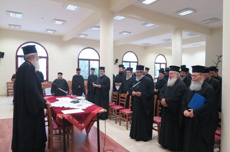 Μηνιαία Ιερατική Σύναξη στην Ι. Μητρόπολη Φθιώτιδος (ΦΩΤΟ)