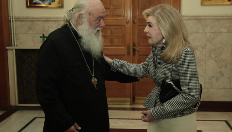 Στον Αρχιεπίσκοπο Αθηνών η Μαριάννα Βαρδινογιάννη (ΦΩΤΟ)