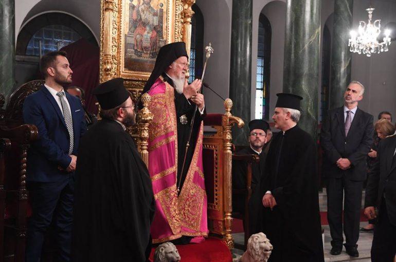 Ο Οικ. Πατριάρχης στον Ι. Ναό Αγίου Δημητρίου Ταταούλων (ΦΩΤΟ)