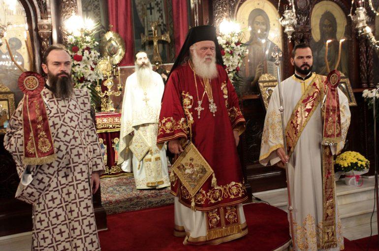 Ο Αρχιεπίσκοπος στον Ι. Ναό Αγίου Δημητρίου Αμπελοκήπων (ΦΩΤΟ)