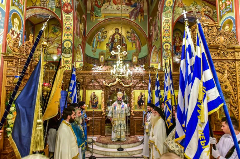 Λαγκαδά: «Κρατήστε ψηλά την Ελληνική Σημαία και τα Λάβαρα του Πολιτισμού μας»