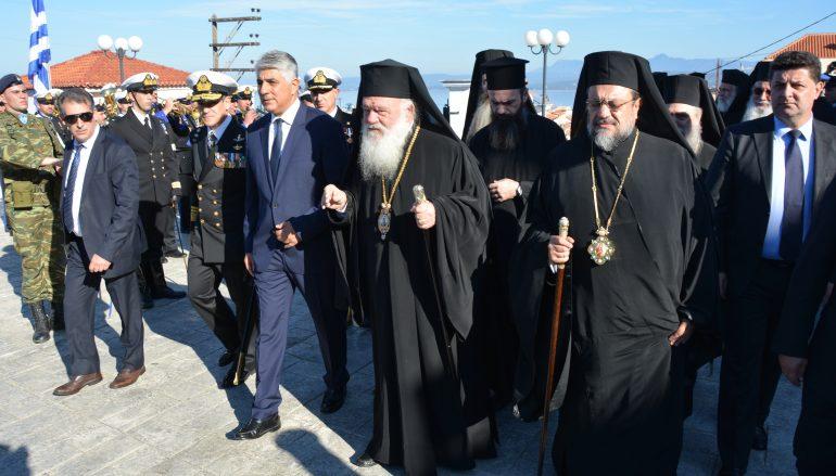 Ο Αρχιεπίσκοπος Ιερώνυμος στην Επέτειο της Ναυμαχίας του Ναυαρίνου (ΦΩΤΟ)