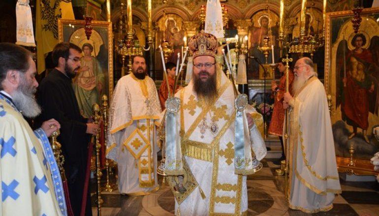Αρχιερατική Θεία Λειτουργία στον Ιερό Ναό Αγίου Δημητρίου Σαλαμίνος (ΦΩΤΟ)