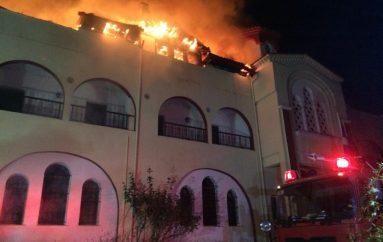 Πυρκαγιά στην Ι. Μ. Ευαγγελισμού της Θεοτόκου Ολυμπιάδας Χαλκιδικής (ΦΩΤΟ)