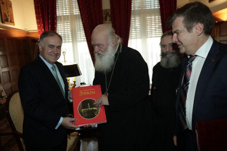 Στον Αρχιεπίσκοπο Ιερώνυμο ο Πρέσβης της Ισπανίας (ΦΩΤΟ)