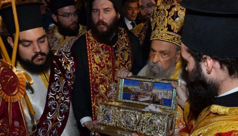 Ομολογία πίστης η επίσκεψη της Αγίας Ζώνης στη Λάρισα (ΒΙΝΤΕΟ)