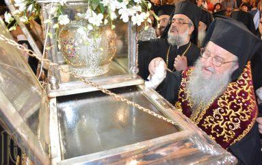 Πλήθος πιστών στην Ακολουθία του Μύρου του Αγ. Δημητρίου (ΦΩΤΟ – ΒΙΝΤΕΟ)