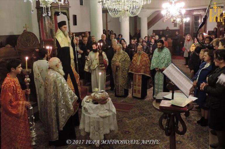 Αρχιερατικός Εσπερινός του Αγίου Μερκουρίου στην Άρτα (ΦΩΤΟ)