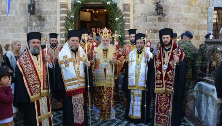 Η Ρόδος τίμησε τον Πολιούχο της Άγιο Κωνσταντίνο τον Υδραίο (ΦΩΤΟ)