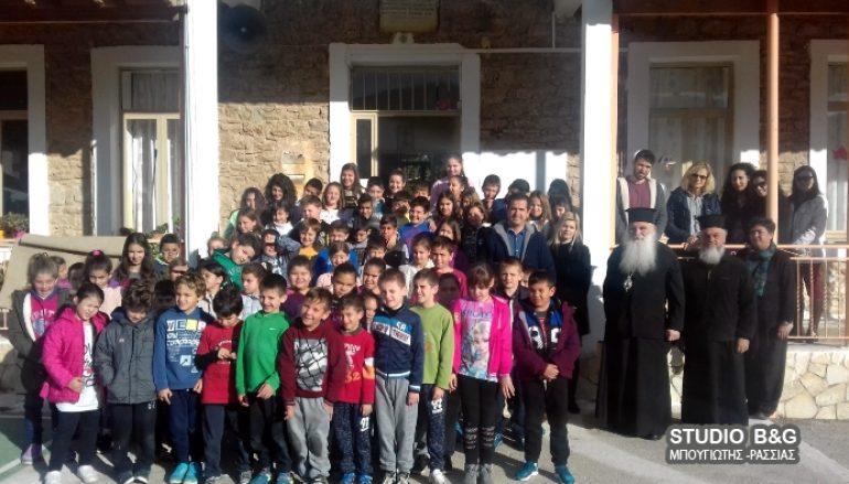 Ο Μητροπολίτης Αργολίδος στο Δημοτικό Σχολείο Σκαφιδακίου (ΦΩΤΟ)