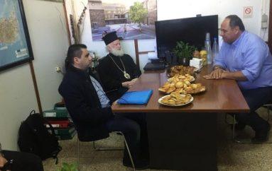Στα γραφεία του Υπεραστικού ΚΤΕΛ Ηρακλείου ο Αρχιεπίσκοπος Κρήτης