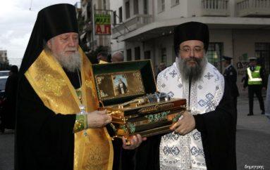 Ιερό Λείψανο του Οσίου Σεραφείμ του Σάρωφ υποδέχθηκε η Πάτρα (ΦΩΤΟ)