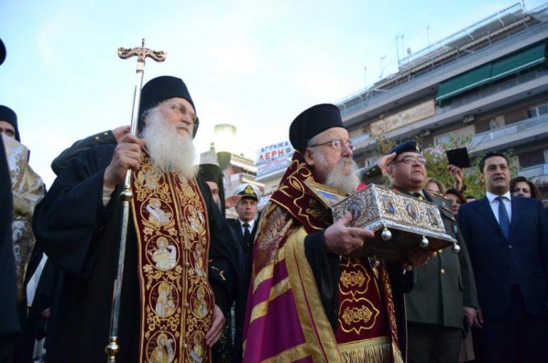 Πανδήμως το Αγρίνιο υποδέχθηκε την Τιμία Ζώνη της Παναγίας (ΦΩΤΟ)