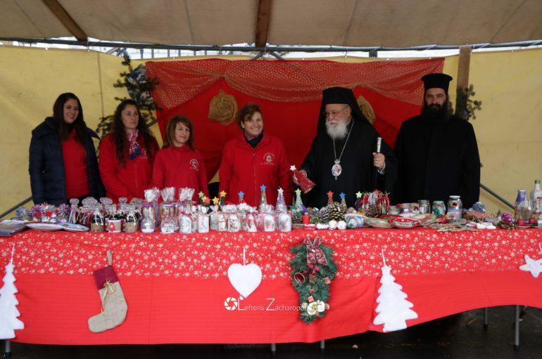 Ο Μητροπολίτης Μαντινείας σε Χριστουγεννιάτικο Bazaar (ΦΩΤΟ)