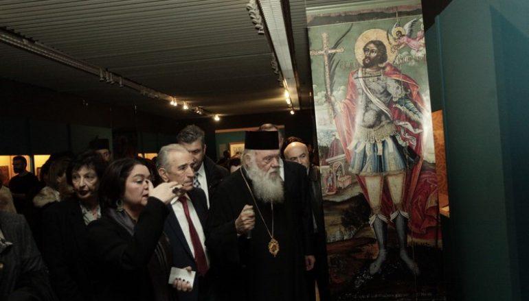 Ο Αρχιεπισκόπος στα εγκαίνια έκθεσης «Θρησκευτική Τέχνη από την Ρωσία στην Ελλάδα»