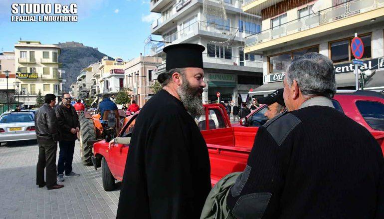 Ιερέας στο πλευρό των Αγροτών της Αργολίδας (ΦΩΤΟ)