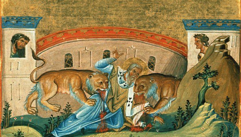 Εόρτιος μνήμη του Αγίου Ιγνατίου του Θεοφόρου