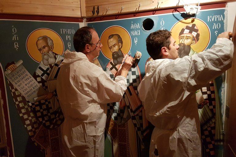 Ολοκληρώθηκε η Αγιογράφιση του Ησυχαστηρίου στην Ι. Μ. Σουηδίας (ΦΩΤΟ)