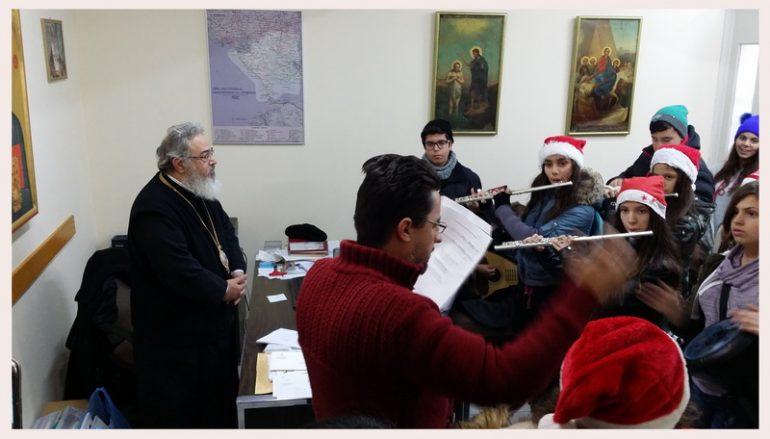 Τα Χριστουγεννιάτικα Κάλαντα άκουσε ο Μητροπολίτης Πρεβέζης (ΦΩΤΟ)