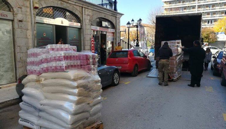 Προσφορά τροφίμων από Ι. Μονές στο φιλανθρωπικό έργο της Ι. Μ. Μαντινείας