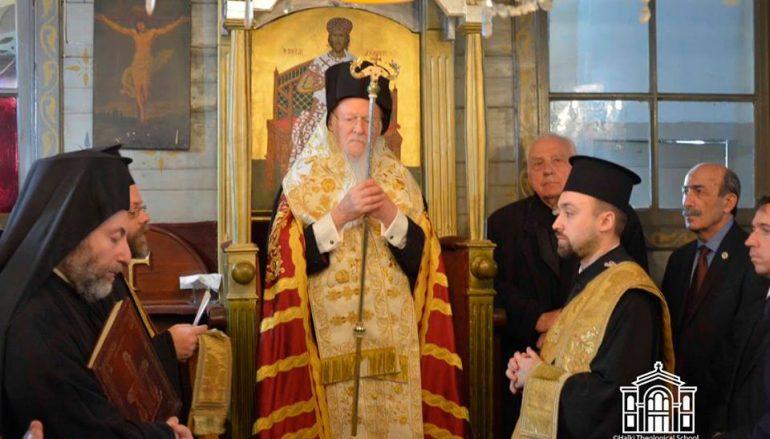 Ο Οικ. Πατριάρχης στη Σκήτη του Αγ. Σπυρίδωνος Χάλκης (ΦΩΤΟ)
