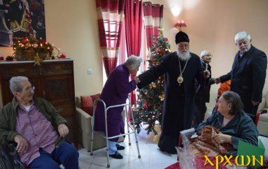 Επίσκεψη του Μητροπολίτη Μαντινείας στο Δεκάζειο Γηροκομείο (ΦΩΤΟ)