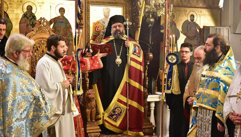 Ο Επίσκοπος Πύργου στον Ι. Ναό Αγίου Νικολάου Λαγυνών (ΦΩΤΟ)