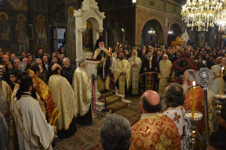 Πανηγυρικός Εσπερινός στον Ι. Ναό Αγ. Βαρβάρας Τρίπολης (ΦΩΤΟ)