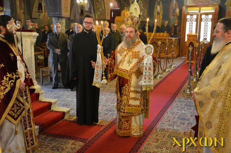Ο Μητροπολίτης Ιερισσού στον Ι. Ναό Αγίας Βαρβάρας Τρίπολης (ΦΩΤΟ)