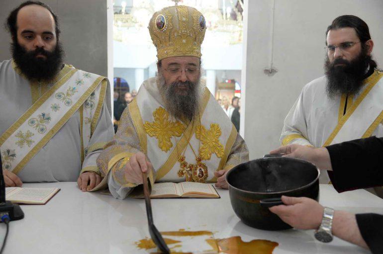 Εγκαίνια Ναού από τον Μητροπολίτη Πατρών Χρυσόστομο (ΦΩΤΟ)