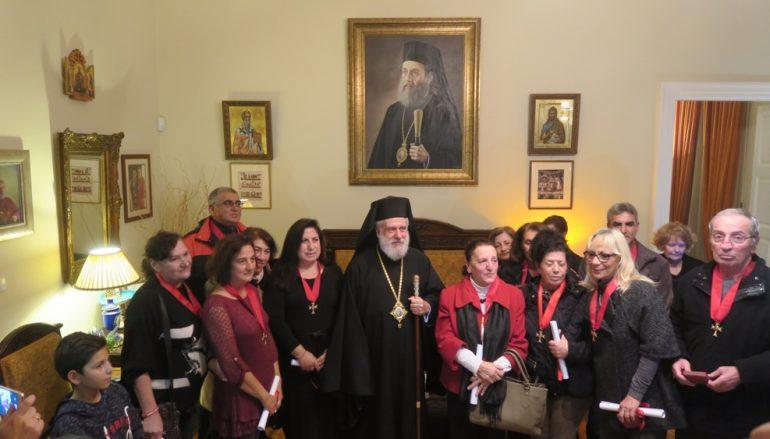 Ο Μητροπολίτης Σύρου τίμησε συνταξιούχους Νοσηλευτές (ΦΩΤΟ)