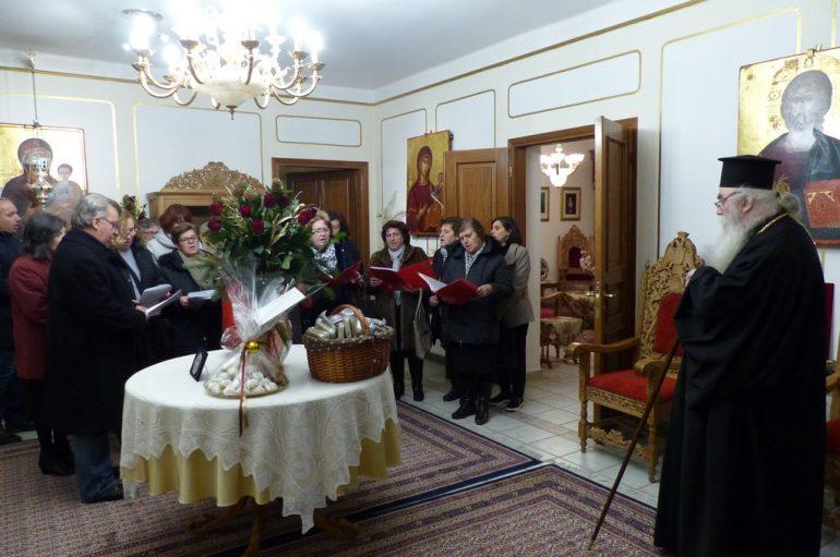 Τα πρώτα καστοριανά κάλαντα έψαλλαν στον Μητροπολίτη Σεραφείμ (ΒΙΝΤΕΟ)