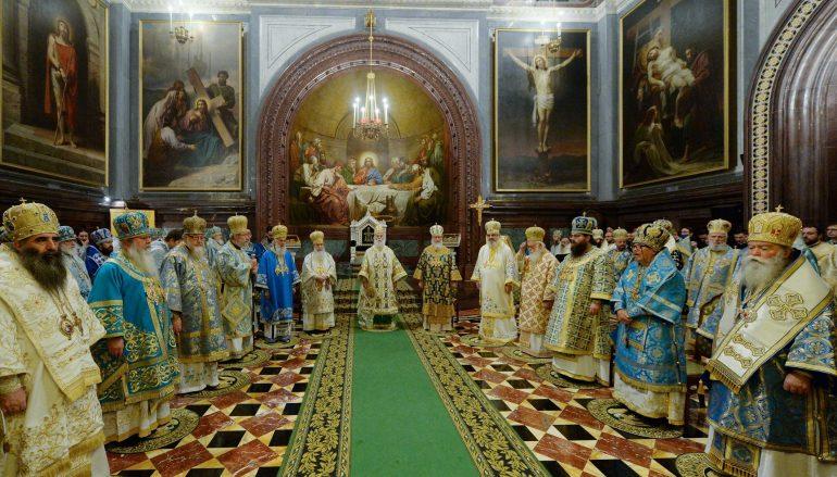 Πατριαρχικό Συλλείτουργο στον Καθεδρικό Ναό της Μόσχας (ΦΩΤΟ)