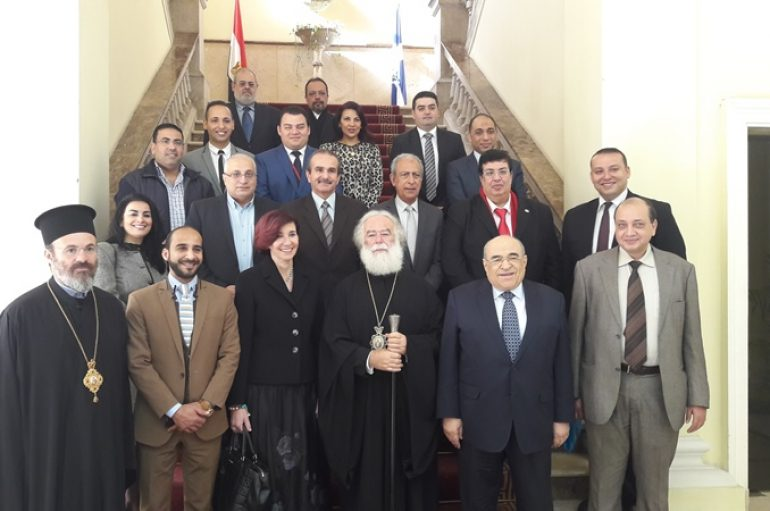 Αντιπροσωπεία της Βibliotheca Alexandrina στον Πατριάρχη Αλεξανδρείας