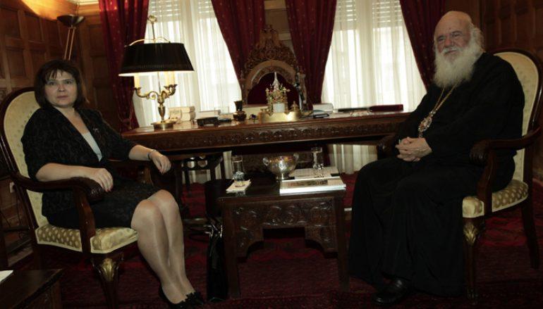 Συνάντηση Αρχιεπισκόπου με τη νέα Πρέσβη της Σλοβακίας