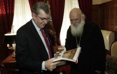 Στον Αρχιεπίσκοπο ο Αντιπρόεδρος της Βουλής Δημήτρης Κρεμαστινός (ΦΩΤΟ)
