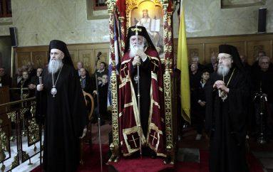 Ο Αρχιεπίσκοπος Αθηνών στον Ι. Ναό Αγίου Αθανασίου Αμφιλοχίας (ΦΩΤΟ)