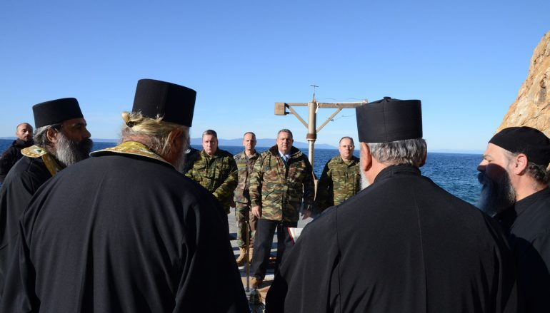 Επίσκεψη του Υπουργού Εθνικής Αμύνης στο Άγιον Όρος (ΦΩΤΟ)