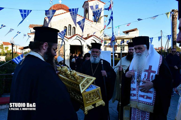 Υποδοχή Λειψάνων του Αγ. Νικηφόρου του Λεπρού στη Νέα Κίο Αργολίδος (ΦΩΤΟ)