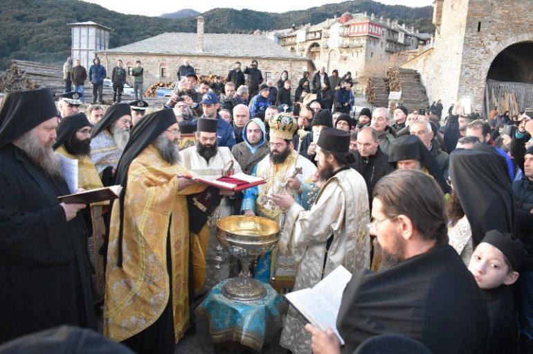 Η εορτή των Θεοφανείων στην Ιερά Μονή Ιβήρων (ΦΩΤΟ)