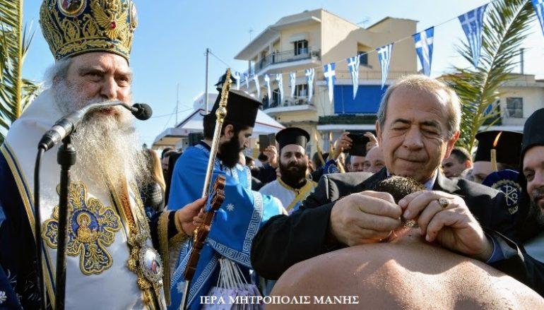 Με λαμπρότητα εορτάσθηκαν τα Θεοφάνεια στην Ι. Μ. Μάνης (ΦΩΤΟ)