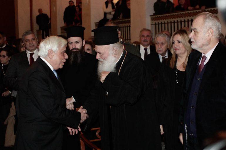 Ο Αρχιεπίσκοπος στην παρουσίαση του βιβλίου του Δημ. Κρεμαστινού (ΦΩΤΟ)