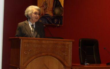 Ομιλία της Καθηγήτριας Μερόπης Σπυροπούλου στην Ι. Μ. Κορίνθου (ΦΩΤΟ)