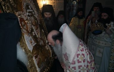 Τα Μετέωρα υποδέχθηκαν Εικόνα της Παναγίας Τριχερούσας (ΦΩΤΟ)