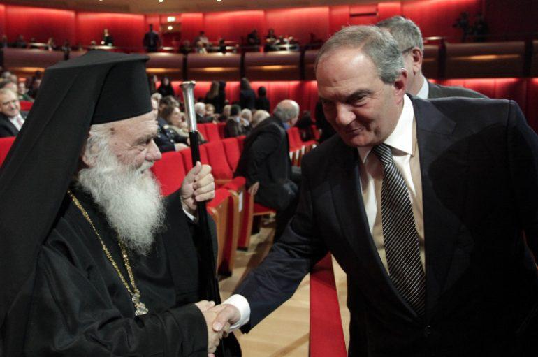 Συνάντηση Αρχιεπισκόπου Ιερωνύμου με Καραμανλή